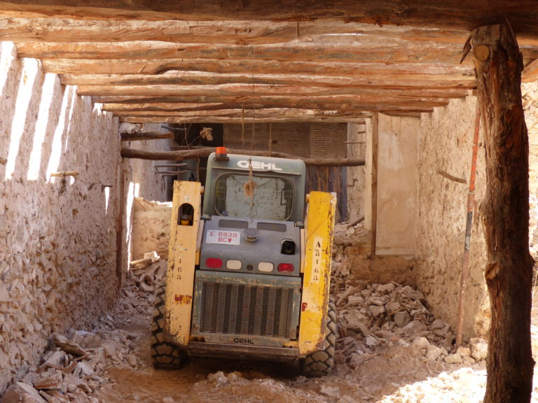 There is a digger in a guest bedroom