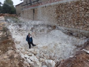 A big hole for the water treatment system